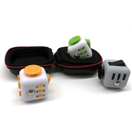 Wholesale Cube Holder - Storage Box For Fidget Cube Toy Stress Relief Decompression Anxiety Toys Fidget Cube Box Fidget Cube Holder Portable Carry Storage case Bag