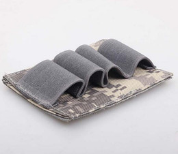 Wholesale Shotgun 12 - Tactical Pouch holster for Hunting 4 Round Shotgun Shell 12 Gauge Ammo Carrier Holder