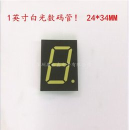 Wholesale Display Segments - Wholesale- 1inch 1digit White 8 segment led display 1106AW 1106BW 10pcs