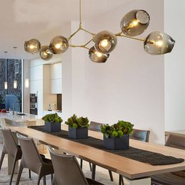 Wholesale G4 24 Led - Lindsey Adelman Chandeliers lighting modern lamp novelty pendant lamp natural tree branch suspension Christmas light hotel dinning room