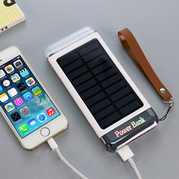 Wholesale Solar Charger For Iphone Galaxy - Waterproof Solar Power Bank 10000mah Solar Battery Charger Bateria Externa Portable Charger Powerbank For iPhone Xiaomi Samsung galaxy s8
