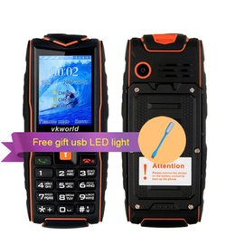 Wholesale Vkworld New Stone V3 Cellphone IP68 Rugged Waterproof Shockproof phone mAh Flashlight Power Bank quot SIM Cards Outdoor mobile phone