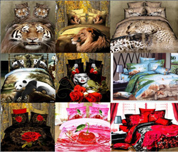 Wholesale Lion Print Bedding Set - Wholesale-dropship polyester 3D flower tiger lion leopard Monroe rose bedding bed sheet set bedclothes duvet cover set bedding set