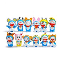 Wholesale Zodiac Action Figure - Anime Doraemon Action Figure Toys, 12 Chinese Zodiac Constellation Cosplay Doraemon Figures Kid Toys, Anime Brinquedos