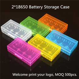 Wholesale Safety Case Box - Portable Carrying Box Dual 18650 Battery Storage Case Acrylic Box Colorful Plastic Safety Box for 18650 18350 16340 CR123A Battery