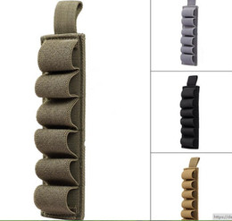 Wholesale Shell Carrier - Airsoft Tactical Hunting Shotgun 6 Shells Carrier Holster 6 Round for 12Ga 20Ga Paintball Rifle Gun Ammo Carrier Pouch Cartridge Holder