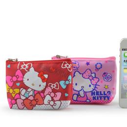 borsa all'ingrosso del gattino di hello Sconti Sacchetto della borsa del raccoglitore della borsa della moneta della borsa della tela della borsa di Wholesale- Hello Kitty; Borsa da tasca portacellulare da donna