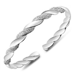 Wholesale Chinese Bracelets Men - 925 Sterling Silver Bangles For Women Men Open Hand Jewelry Bohemian Fashion Bracelet Chinese Style Adjustable High Quality