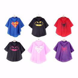 Wholesale Gear Rain Coat - Fashion Kids Rain Coat raincoat for children Rainwear impermeable Rainsuit Kids Waterproof Supermen rain gear free shipping