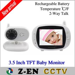 """Wholesale Camera Kit Baby Monitor - 3.5"""" TFT LCD Wireless Baby Monitor Home Security 2.4GHz Digital Kid Sleep Monitor Kit Video Nanny Camera Baby Monitors"""