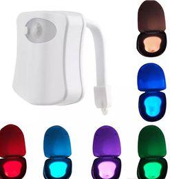 Wholesale Motion Activated Light Sensor - 8 Colors Changeable LED Toilet Light Motion Sensor Activated Toilet Bowl Lights Original Factory Direct Sale