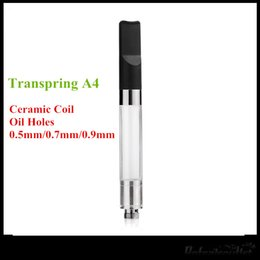 Wholesale V5 Pens - Transpring A4 Ceramic Wickless Cartridge Vaporizer Refillable Oil Pen No Leak VS Liberty V1 V5 V8 V9