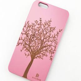 Canada En vente Étui de téléphone cellulaire en bois pour iPhone 6 6plus 5 UI Dur Solide PC Couverture de téléphone antichoc Offre