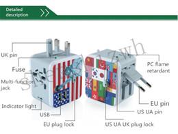 Wholesale Voltage Converter Plug - New 110v to 240v universal dual USB high-end multinational travel plug socket Multi Adapter Plug AU UK US EU pin voltage Converter Socket