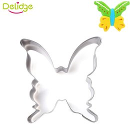 Wholesale Butterfly Cookies - Delidge 20 pc Butterfly Shape Cookie Mold Stainless Steel Butterfly Fondant Mold Biscuit Cookie Cutter Cake Decoration Mold