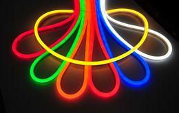 Wholesale Neon Lights Decorating - 100m rope led lights SMD2835 120pcs m LED 110v 120v Flexible Neon Stripe Light Cool White Decor Lighting outdoor led light xmas decorating
