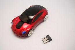 Schiff geformte maus online-30pcs / lot # USB-Auto-Form-drahtlose optische Maus 10M 2 blaue rote weiße Mäuse geben FEDEX DHL frei, der 0001 versendet