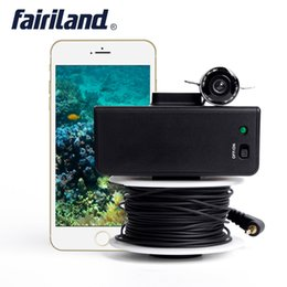 Wholesale Underwater Fishing Videos - X5 35m Wifi connection fish finder fishing detector fish locator underwater camera 20m cable video recording build-in rechargeable battery