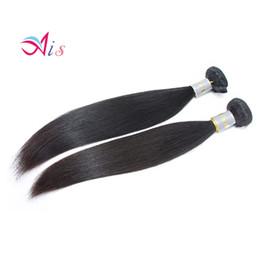 tissage de la tête complète péruvienne Promotion 7A 8-28inches cheveux brésiliens droites péruvienne armure de cheveux humains droites 2Bundles / lot pleine tête extensions de cheveux