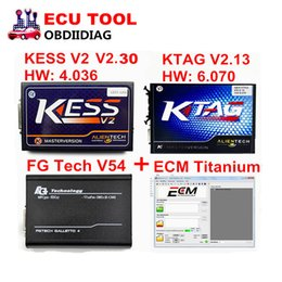 Wholesale Opel Ecu Programmer - Full Set FGTECH V54 FGTECH Galletto 4 Master + Kess V2 V2.30 + KTAG V6.070 K TAG K-TAG V2.13 No Tokens Limited