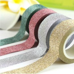 Wholesale Glitter Adhesive Tape - Wholesale- 2016 1 PC 8 Colors 5m Kawaii Glitter Matte Tape Book Decor Scrapbooking Card Adhesive Paper Sticker DIY Craft 950