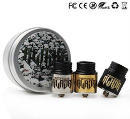 Wholesale Quality Taste - Newest BLADE Sub Ohm RDA Rebuildable Dripping Atomizers blade Intake hole Fit 510 Ecig Mechanical Mods Good taste high quality DHL Free