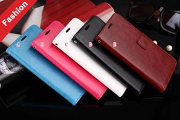 Wholesale Note2 Wallet - Crazy Horse Retro Wallet Leather Case For Samsung Galaxy J5 Prime J7 Prime On5 On7 2016 Redmi 4 4A Xiaomi NOTE2 Mix Huawei Mate 9 Pro Cover