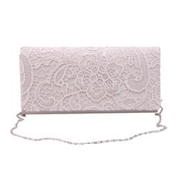 свадебные кошельки Скидка Wholesale- Woman Ladies Lace Floral Satin Party Evening Clutch Wedding Bridal Purse Bag Messenger Shoulder Party Girl Handbags