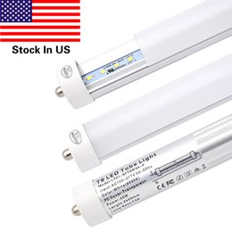 Wholesale fluorescent work lamps - Single Pin FA8 Base 8FT LED Light Tube Work without ballast Frosted Cover 45W,Replacement 90W Fluorescent Lamp Shop Lights,Cold White 6000K