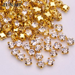 SS12 Sewing Clear Crystals Claw Rhinestones Flatback Glass Stones Sew On Strass  Crystal For Clothes Dress Crafts 1440pcs 89d93db195ca