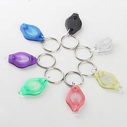 Discount micro led keychain - Micro Light LED Keychain Flashlight LED Nightlight Waterproof Mini Torch Key Chain Ring Keyring White LED Lights Night Light ZJ0432