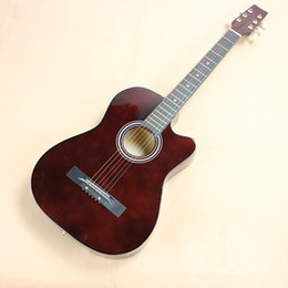 "Wholesale 11 String Guitar - Wholesale-2016 NEW 38"" Acoustic guitar 38-11 high quality guitarra Musical Instruments with guitar strings"