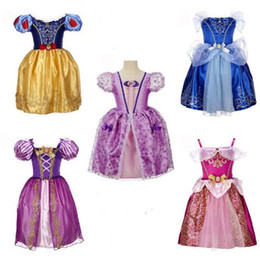Wholesale Freeze Clothing - Baby girls frozen Princess dresses clothes cartoon skirt girl cosplay costume children cosplay clothing 2 styles CSZ011
