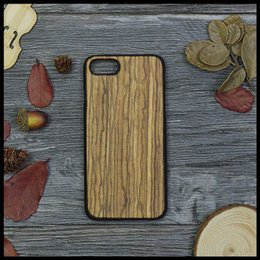 Wholesale Iphone5 Cases Wooden - Zebra Wood Case For iPhone 7 6 7Plus Bamboo Real Genuine Wooden Phone Cases For iPhone5 5S SE Protection PC Hard Back Cover