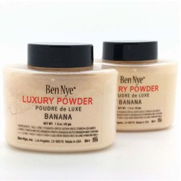 Wholesale Banana Powder Ben Nye - Ben Nye Luxury Powder 42g New Natural Face Loose Powder Waterproof Nutritious Banana Brighten Long-lasting Hot Selling
