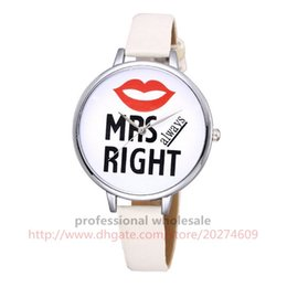 Wholesale Mustache Lips - 2 Colors Couple Watch Mustache Lips Dial Leather Watch Wholesale Casual Wristwatch Valentine's Day For Lover Men Women