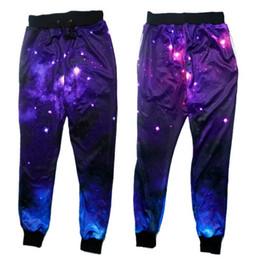 Wholesale Galaxy Trousers - Wholesale- 2016 New Fashion Joggers Pants 3D Galaxy Print Space Sweat Pants Sweatpants men women Hip Hop Trousers Drop shipping