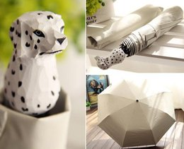 Wholesale Wooden Shades - New Hand-Carved Wooden Cute Animal Windproof Rain and Parasol Folding Women Umbrella