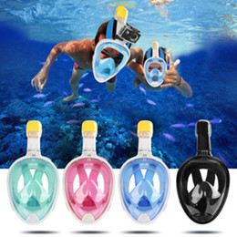 Wholesale Wholesale Snorkels Mask - Full Face Snorkel Mask 180 Degree View Free Breathing Snorkeling Mask with Anti-Fogging Breakage-Proof Design 5 Colors