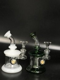 Wholesale Hot Hangers - 2017 hot selling great glass banger hanger, 6 inch ,flower decor,glass oil rig. 14 mm wax female joint, with 14 mm glass bowl