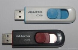 Wholesale Removable Memory - ADATA DashDrive C008 128GB 256GB 64GB ADATA USB Memory UV100 Blue Removable Cap USB 2.0 Flash Drives Sticks