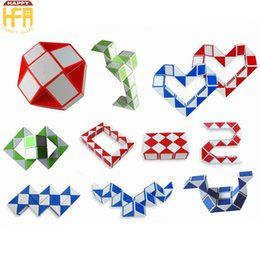 Wholesale Mini Cube Puzzle - 2017 New Arrival Mini Magic Snake Creative Changeable Magic Cube Puzzle game Twisty Stress Reliever Snake Toys Collection