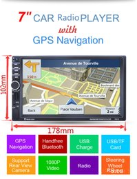 "Wholesale New Screen Stereos - 7"" HD 2 Din In-dash Car GPS Navigation Car Bluetooth Stereo MP3 Player FM Radio"
