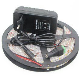 Wholesale Pink Diode - Wholesale-DC12V 5630 SMD led strip light flexible Fita Diode tape lamp non ip65 Waterproof 60led M string light set + DC12V power supply