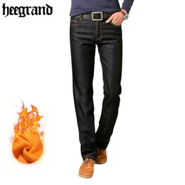 Wholesale Trousers Classical - Wholesale- HEE GRAND 2017 New Men Jeans Denim Straight Man Trousers Casual Classical Blue Jeans Fashion Trousers MKN862