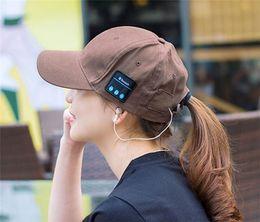 Wholesale Play Sun - Sport Music Hat Unisex Bluetooth Earphone Hat Baseball Cap Sun Visor Leisure Hats Outdoor Long Time Music Playing Music Caps For Smartphones