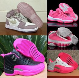 Wholesale Pink Carbon Fiber - Top Basketball Shoes Women Pink Series High Quality Real Carbon Fiber Original Valentine's Day Retros Sneakers