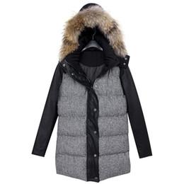 Wholesale Men S Leather Parkas - 2014 Fashion down coat Winter jacket women winter coat women winter color overcoat down jacket women parka+PU leather WJ2039