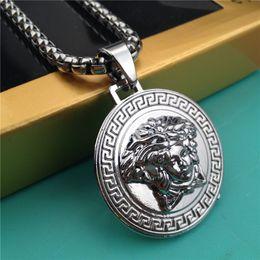 Wholesale Necklaces Design - Famous Brand Design Medusa Pendant Necklaces For Men And Women Luxury Hiphop Jewelry Hip hop Style Party Accessories Gifts Wholesale