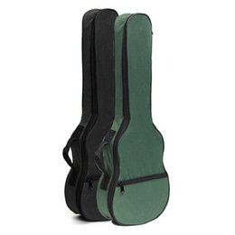Wholesale Ukulele Parts - Ukulele Soft Shoulder Black Green Carry Case Bag Musical With straps For Acoustic Guitar Musical Instruments Parts &Accessories